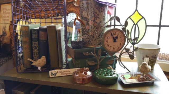 Vintage Fairy Garden display