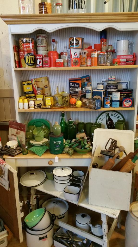 Vintage kitchen display