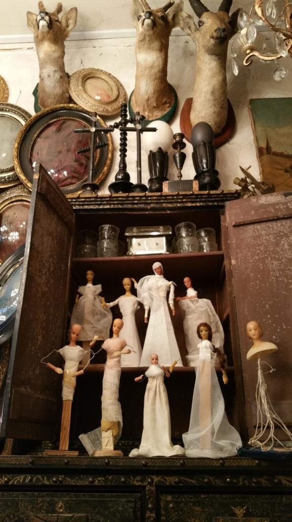 vintage French Bride figures