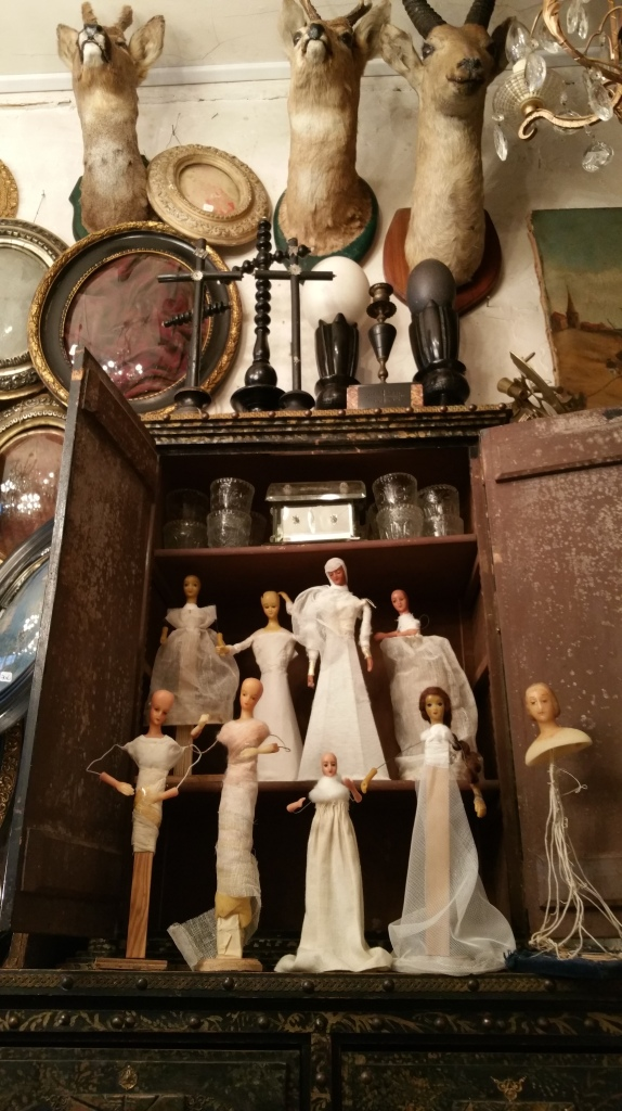 vintage French Bride figures